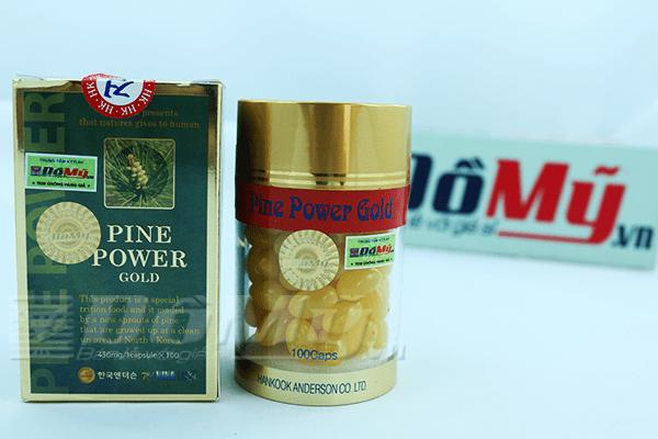 Pine Power Gold -Tinh dầu thông đỏ hàn quốc