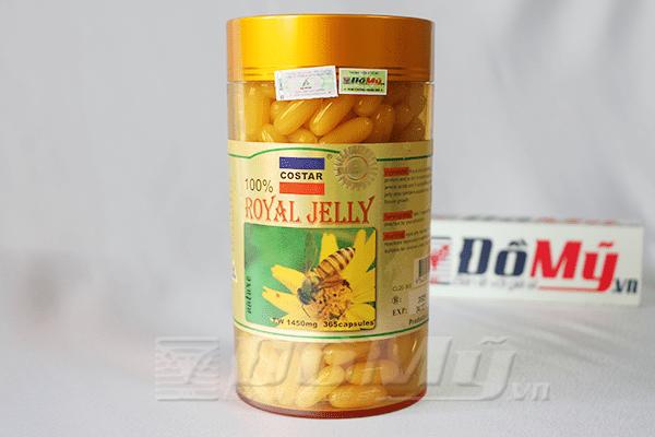 Sữa ong chúa Costar của Úc, hộp 365 viên, 1450mg - Chống lão hóa