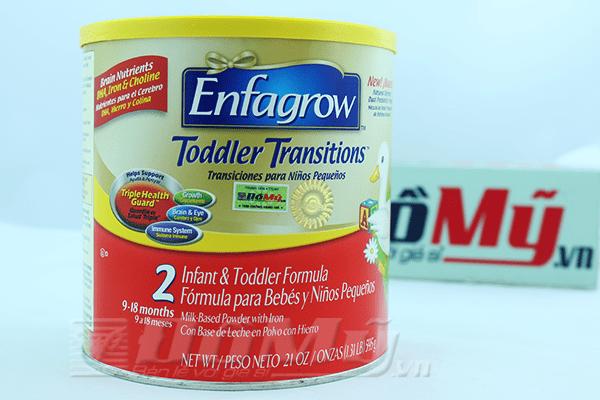 Enfagrow Toddler Transitions số 2 595g 9-18 tháng của Mỹ
