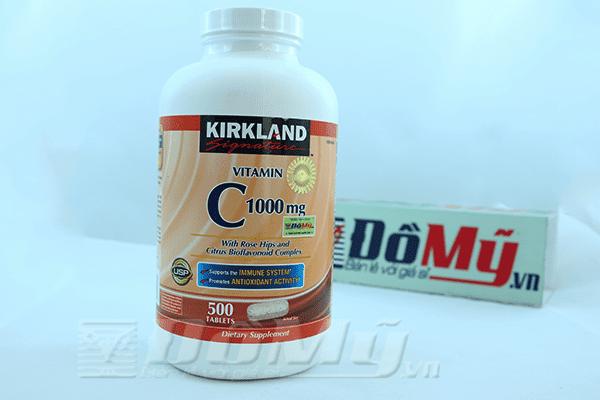 Vitamin C 1000mg Kirkland hộp 500 viên của Mỹ