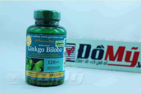 Viên uống giúp tăng cường trí nhớ Ginkgo Biloba 120 mg Puritan's Pride, hộp 200 viên của Mỹ