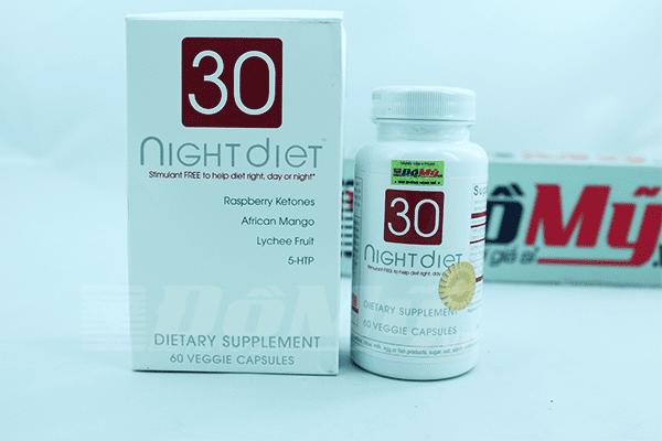 Giảm cân 30 night diet 60 viên của Mỹ