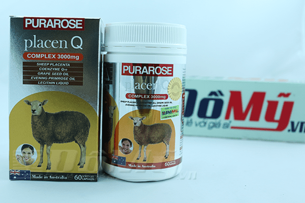 Viên uống nhau thai cừu PuraRose Placen Q 60 viên - Lanopear