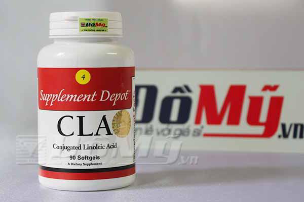 Viến uống giảm cân, giảm mỡ vùng bụng, đùi CLA - USA lọ 90 viên của Mỹ