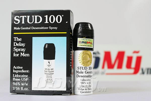 Thuốc xịt chống xuất tinh sớm, tăng độ cương cứng Stud100