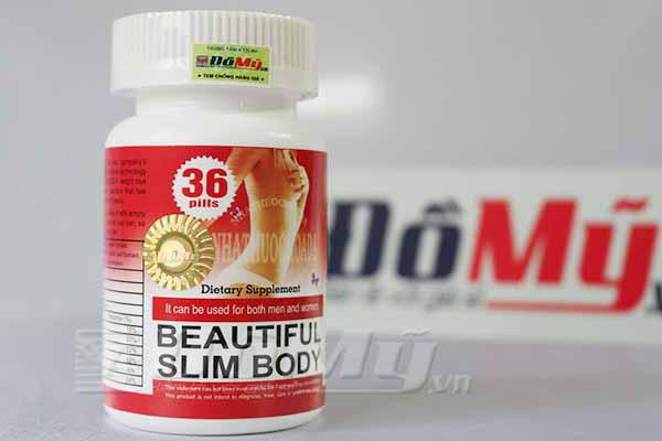 Viên uống giúp giảm cân Beautiful Slim Body hộp 36 viên của Mỹ