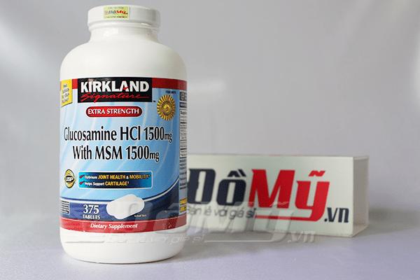 Kirkland Signature™ Glucosamin HCL & MSM 1500mg. Hộp 375 viên - Thuốc bổ khớp