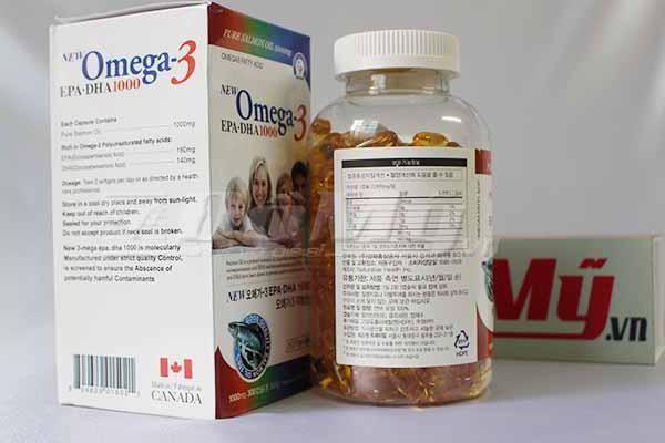 Tinh Dầu Cá Hồi Omega 3 Hàn Quốc lọ 300 viên của Canada
