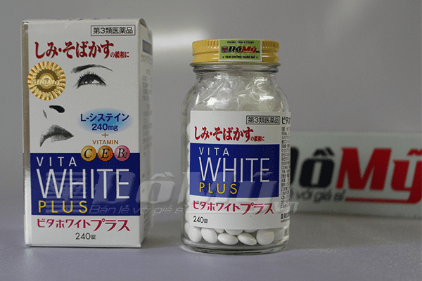 VITA White Plus C.E.B2 - Viên uống trắng da, trị nám và tàn nhang của Nhật