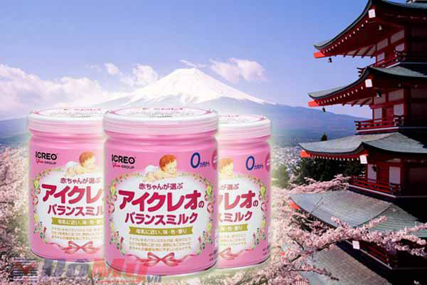 Sữa Icreo số 0 dành cho trẻ từ 0 - 9 tháng - 850g - Nhật
