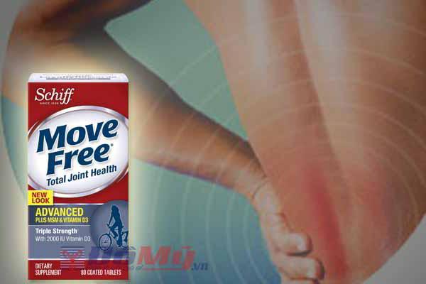 Viên uống bổ khớp Schiff® Move Free Advanced plus MSM + vitamin D 80 viên của Mỹ