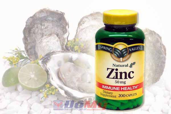 Viên uống thuốc bổ sung kẽm Zinc Spring Valley 50 mg hộp 200 viên của Mỹ