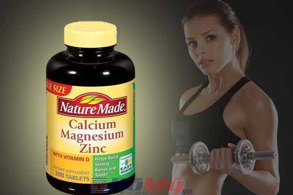 Bổ sung canxi Nature Made® Calcium Magnesium Zinc With vitamin D 300 viên của Mỹ