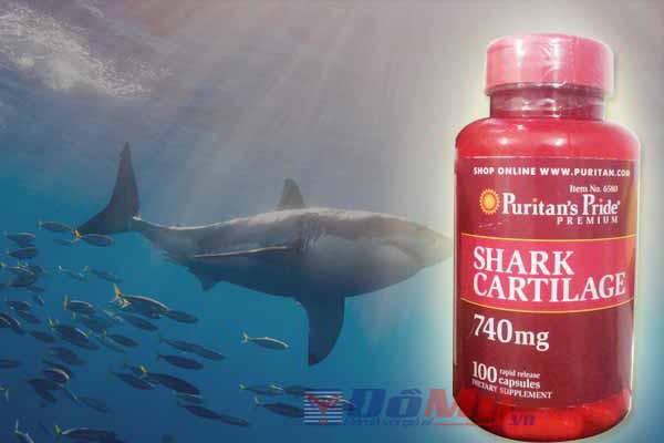 Sụn vi cá mập của Mỹ Puritan's Pride 740mg 100 viên của Mỹ