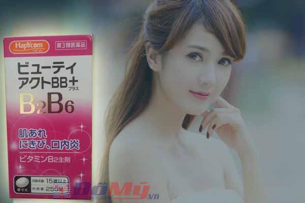 Bổ sung vitamin B2, B6 ngăn ngừa mụn trứng cá KOKAN 250 viên của Nhật