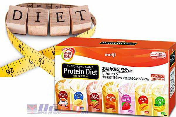 Sữa uống Giảm Cân Meiji Protein Diet hộp 30 Gói của Nhật Bản