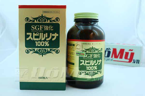 Viên uống tảo viên Spirulina SGF của Nhật Bản thanh lọc cơ thể loại 1550 viên