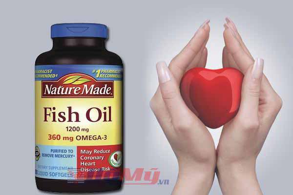 Viên uống thuốc dầu cá Omega 3 của Mỹ Nature Made Fish Oil 1200mg hộp 200 viên