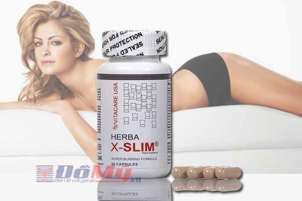 Viên uống giúp giảm cân Herba X-Slim lọ 60 viên Mỹ