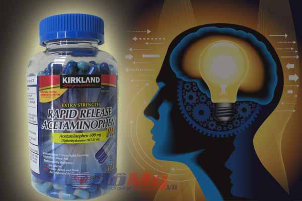 Kirkland Extra Strength Rapid Release PM Acetaminophen Generic Tylenol 375 viên