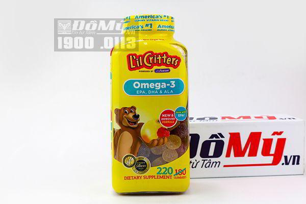 Kẹo gấu dẻo Lil Critters Omega-3 DHA Gummy Fish lọ 220 viên