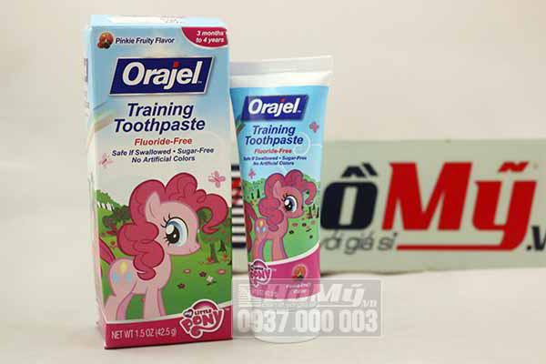 Kem đánh răng ORAJEL Training Toothpaste nuốt được cho trẻ em 42.5g từ Mỹ