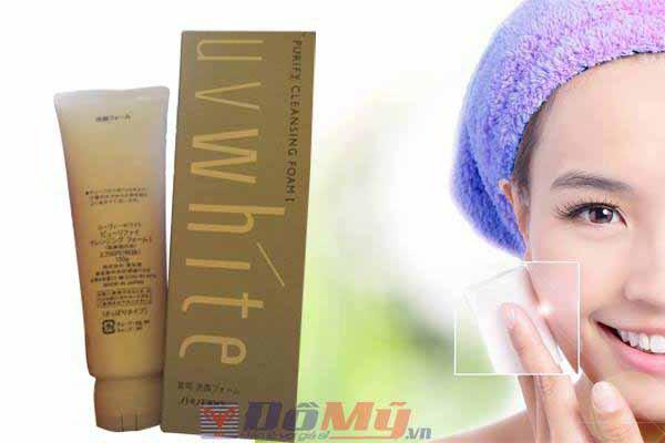 Sữa rửa mặt trắng da Shiseido UV White Purity Cleansing Foam 130g - Nhật