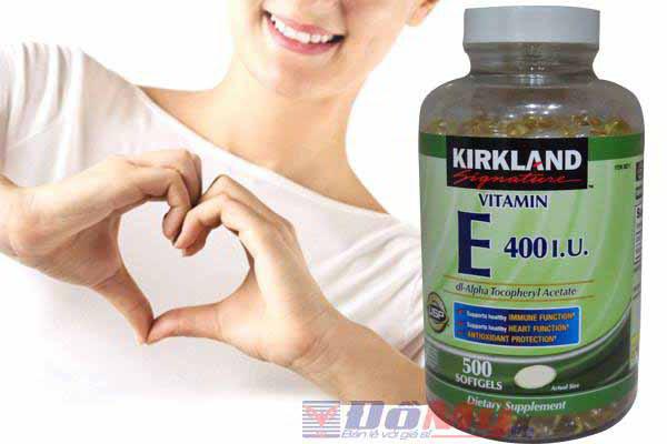 Vitamin E 500 viên Kirkland của Mỹ - Đẹp da, chống lão hóa
