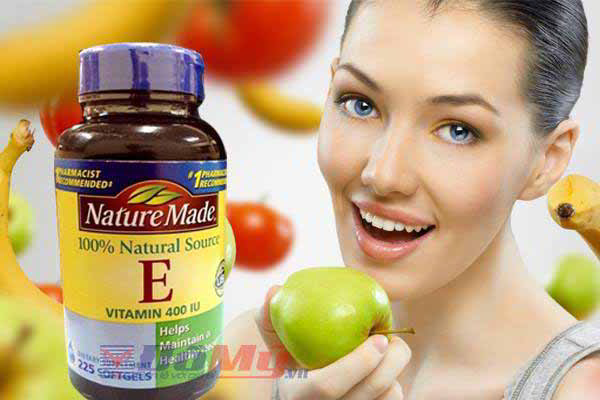 Vitamin E thiên nhiên 400iu của Mỹ - 100% Vitamine E tự nhiên