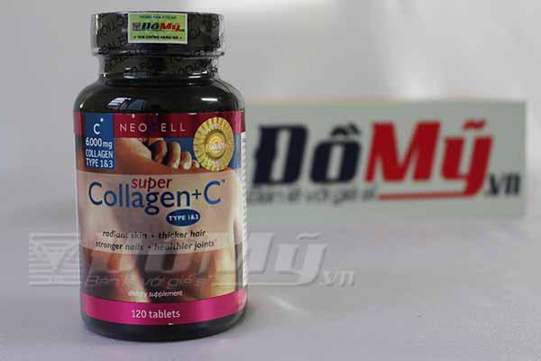 Viên uống chống lão hóa, làm đẹp da Super Collagen +C 120 viên của Mỹ