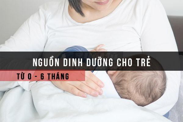 Kết quả hình ảnh cho dinh dưỡng cho trẻ sơ sinh từ 0 - 6 tháng