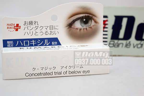 cách tiêu dùng kem điều trị thâm quầng mắt Nhật kumargic eye hiệu quả nhất