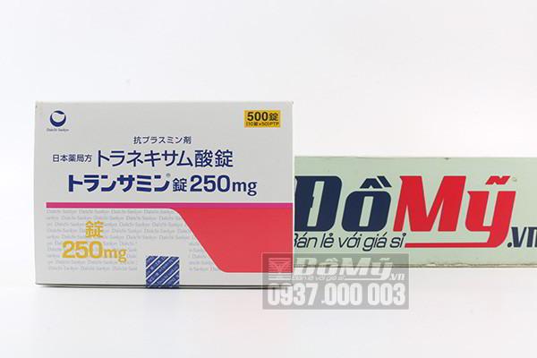 Viên uống sáng da, trị nám Transamin 250mg 500 viên của Nhật