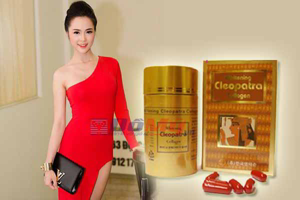 Viên uống làm đẹp da Whitening Cleopatra Collagen hộp 90 viên của Hàn Quốc
