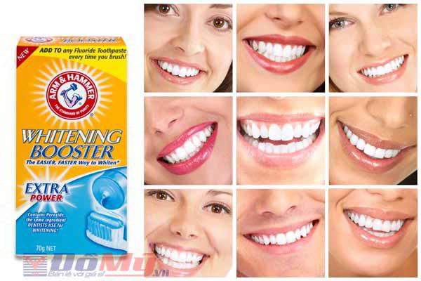 Kem giúp làm trắng răng Whitening Booster 70g của Mỹ