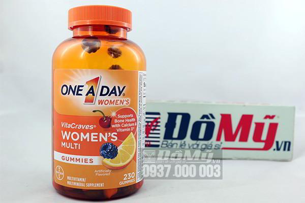 Kẹo Vitamin One A Day Women's VitaCraves Gummies 230 viên của Mỹ