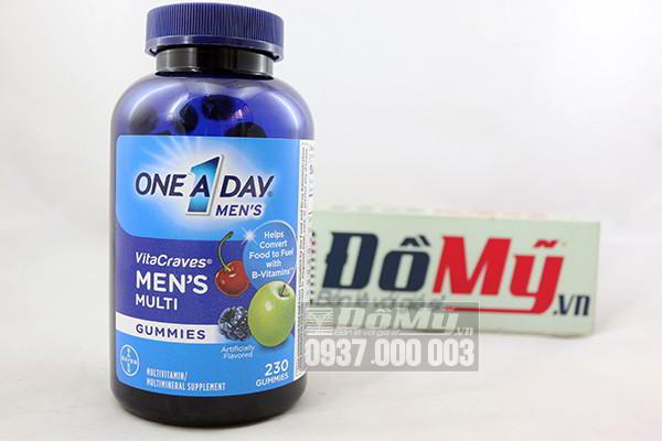 Kẹo Vitamin One A Day Men's Vitacraves Gummies 230 viên của Mỹ