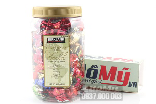 Kẹo Chocolate Kirkland Top Of The World Kirkland Signature 907g của Mỹ