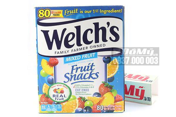 Kẹo dẻo trái cây hỗn hợp Mixed Fruit Welch's hộp 2kg của Mỹ