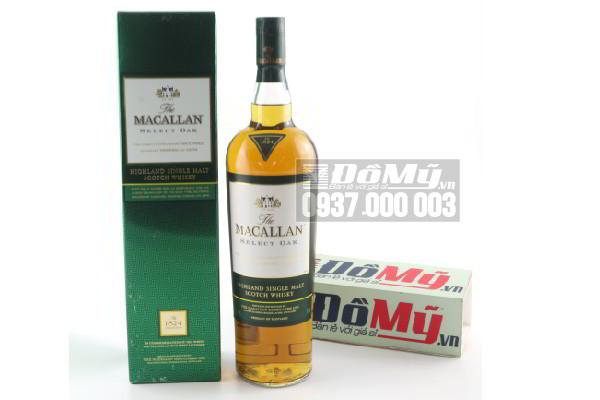 Rượu Macallan 1824 Select Oak - xanh 1 lít tại Scotland
