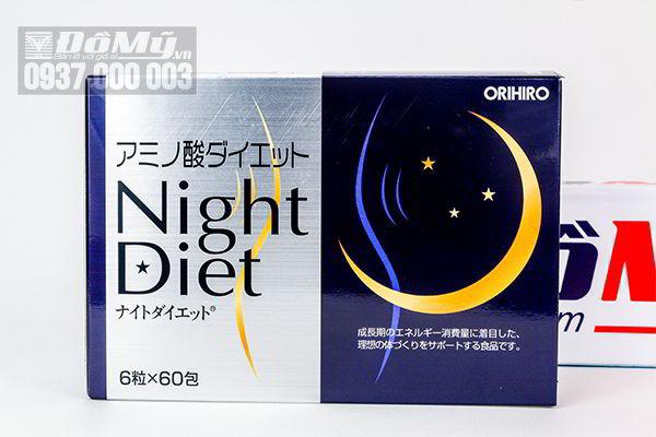 Viên uống giảm cân ban đêm Night Diet Orihiro của Nhật Bản