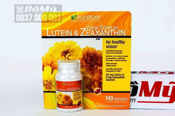 Viên uống bổ mắt Trunature Lutein & Zeaxanthin Vision Complete Tunature 140 Viên của Mỹ