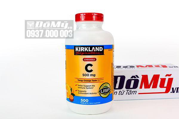 Viên Nhai Vitamin C 500mg Kirkland Signature 500 Viên