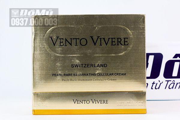 Kem dưỡng trắng da ngọc trai Vento Vivere Pearl Rare illuminating Cellulae Cream