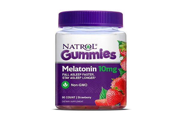 Kẹo dẻo giúp ngủ ngon Natrol Gummies Melatonin 10mg 90 viên vị dâu
