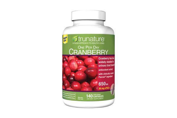 Viên uống hỗ trợ đường tiết niệu và chống oxy hóa Trunature Cranberry 650mg 140 viên