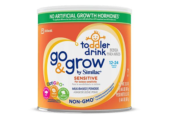 Sữa Similac Sensitive Go & Grow Non – GMO chống đầy hơi, tiêu hóa kém và nôn trớ, không biến đổi gen dành cho bé từ 12 – 24 tháng 661g của Mỹ
