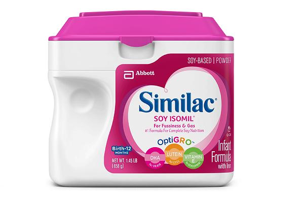 Sữa bột Similac Soy Isomil với sắt dành cho bé từ 0-12 tháng của Mỹ