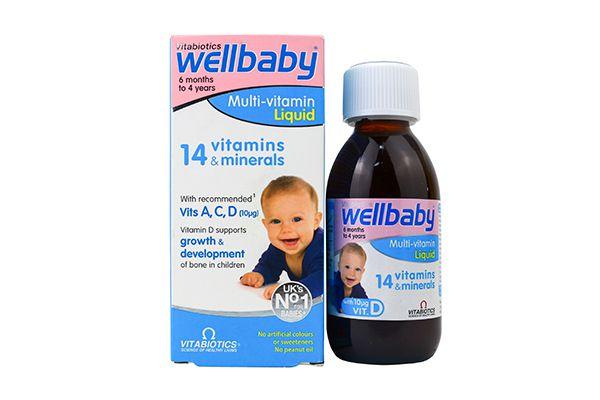 Vitamin tổng hợp Wellbaby Multi-vitamin Liquid của Anh 150ml