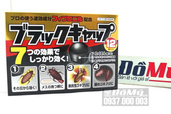 Viên diệt gián tận gốc Black Cap hộp 12 viên của Nhật Bản